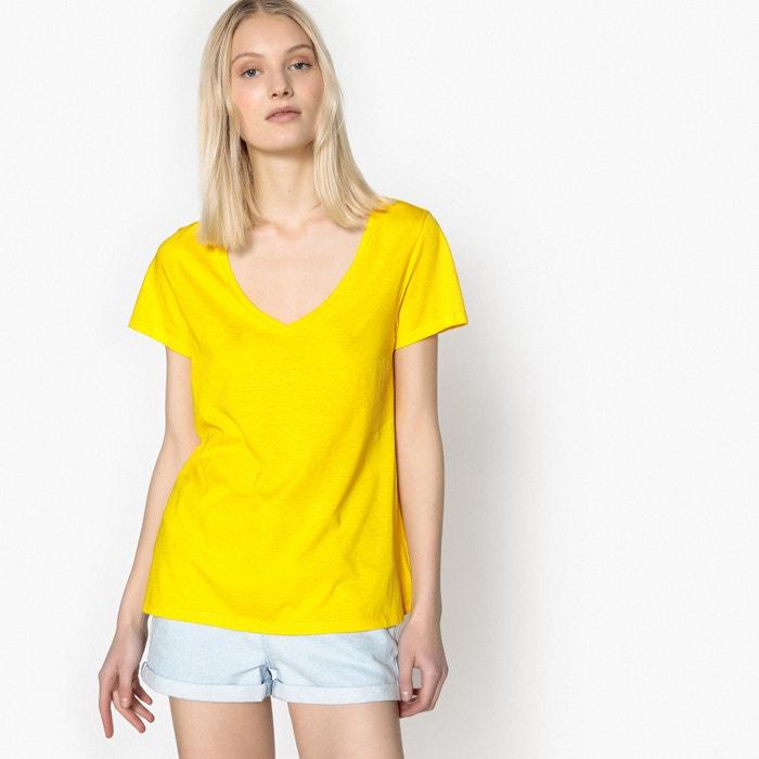 V-Neck Cotton/Modal T-Shirt  La Redoute Collections image 0