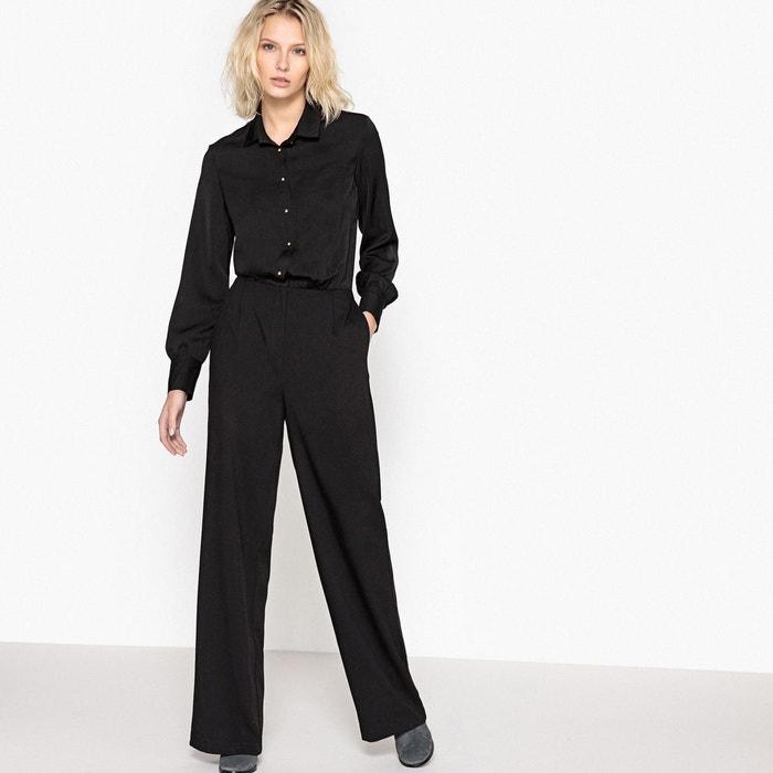 combinaison pantalon chemise noir la redoute collections la redoute. Black Bedroom Furniture Sets. Home Design Ideas