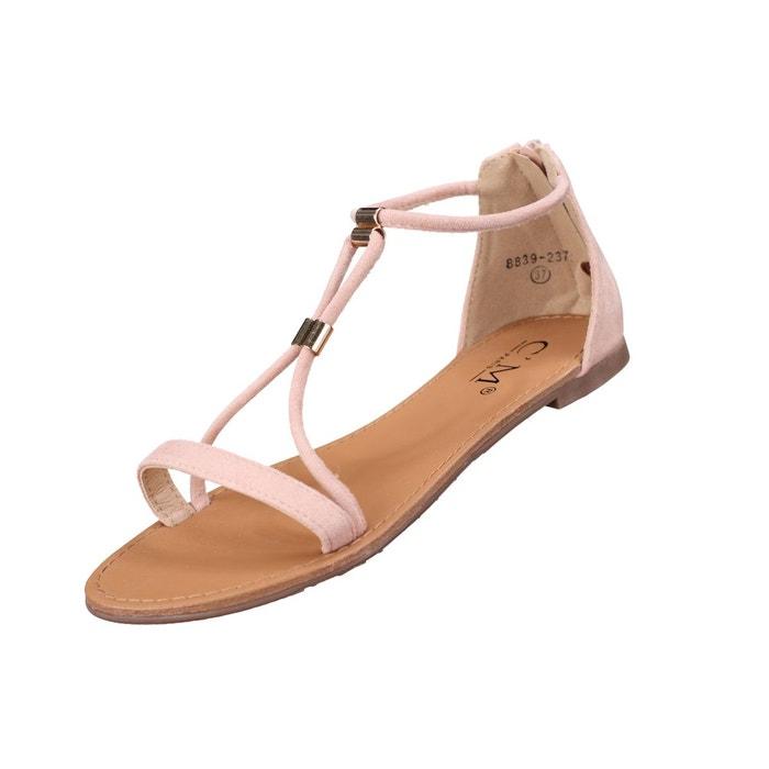 Sandales à détail doré  rose Leader Mode  La Redoute