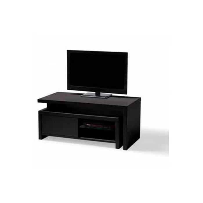 meuble tv caisson amovible noir glisse noir declikdeco la redoute. Black Bedroom Furniture Sets. Home Design Ideas