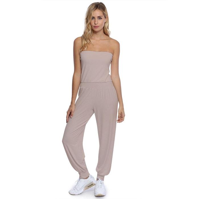 661bd947eb9 Combinaison bustier bandeau pantalon taille ruban en modal MAILY