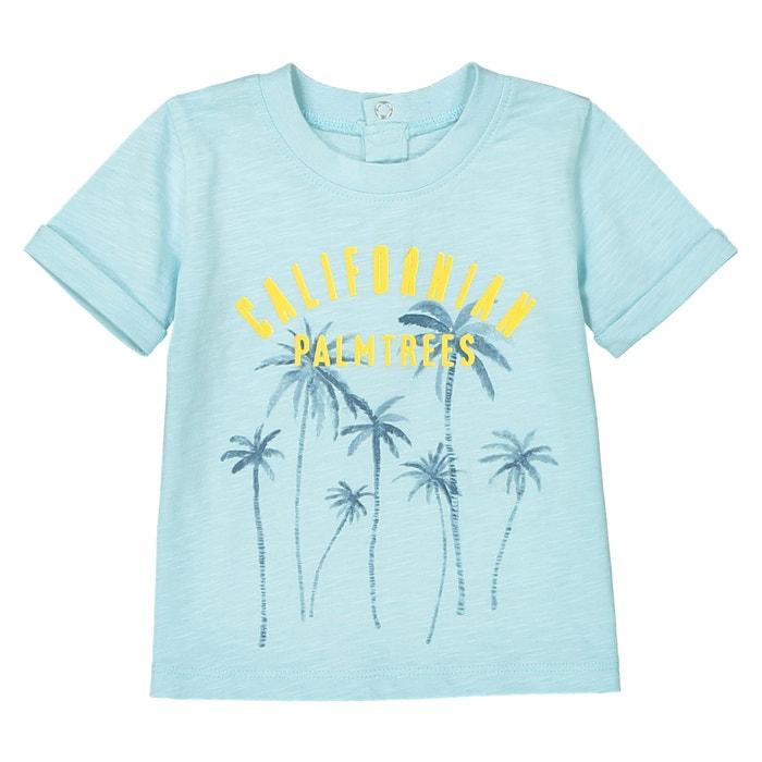 T-shirt scollo rotondo fantasia palme da 1 mese a 3 anni  La Redoute Collections image 0