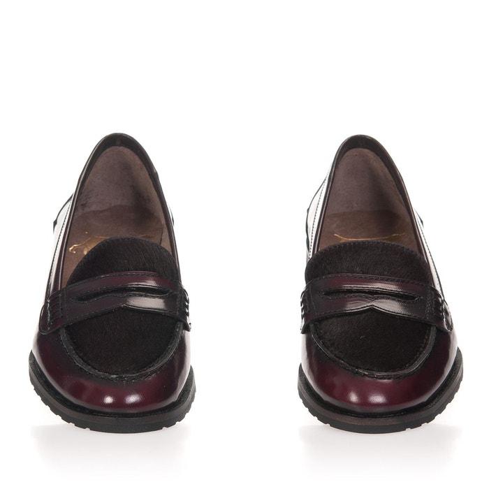 Chaussures en cuir avec masque bourdeaux Castellanisimos