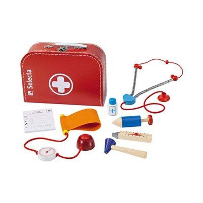 Selecta mallette de docteur avec accessoires en bois jouet en bois  multicolore Selecta   La Redoute f2e88feae9b2