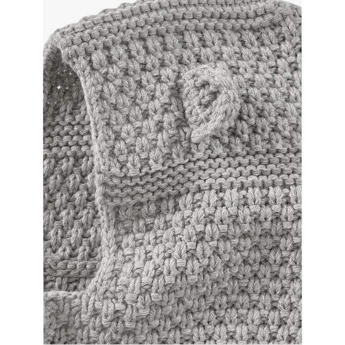 6a58df1e52b9 Cagoule bébé en tricot point fantaisie VERTBAUDET image 0. Ce produit a  bien été ajouté à votre liste de préférés.