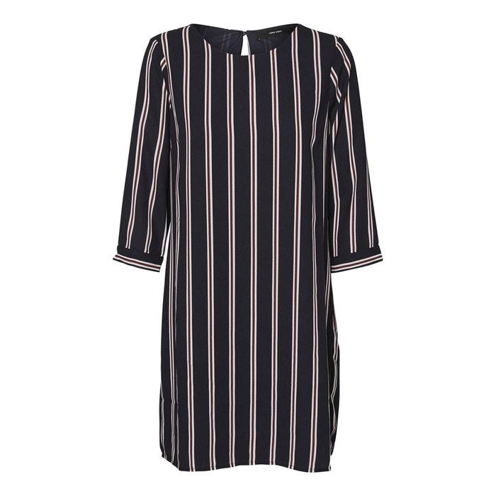 Straight Round Neck Dress with 3/4 Length Sleeves  VERO MODA image 0