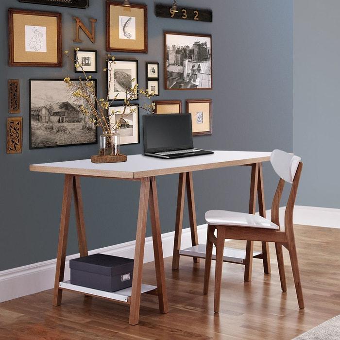 bureau tr teau highbury woodman blanc woodman la redoute. Black Bedroom Furniture Sets. Home Design Ideas