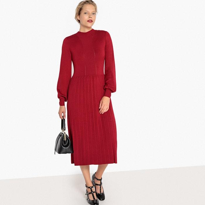 midi jurk rood