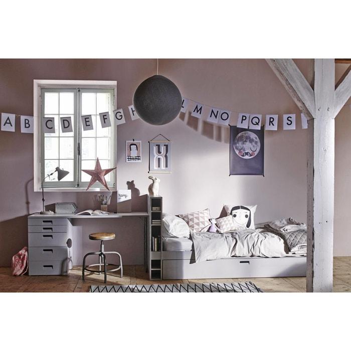 pack lit rangements gigogne bureau gris clair alfred et compagnie la redoute. Black Bedroom Furniture Sets. Home Design Ideas