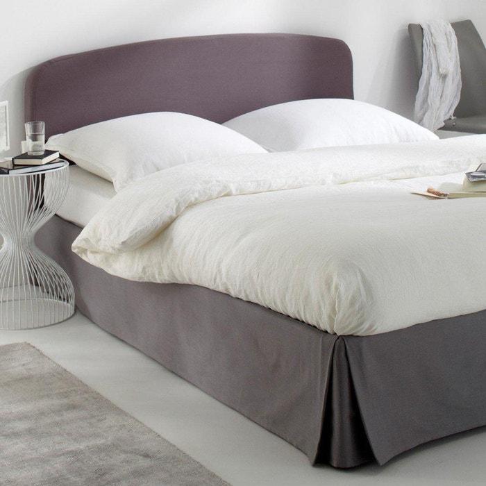 Housse pour t te de lit pur coton forme galb e scenario for Housse pour tete de lit