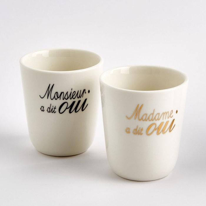 Tasse de mariage en porcelaine (lot de 2)