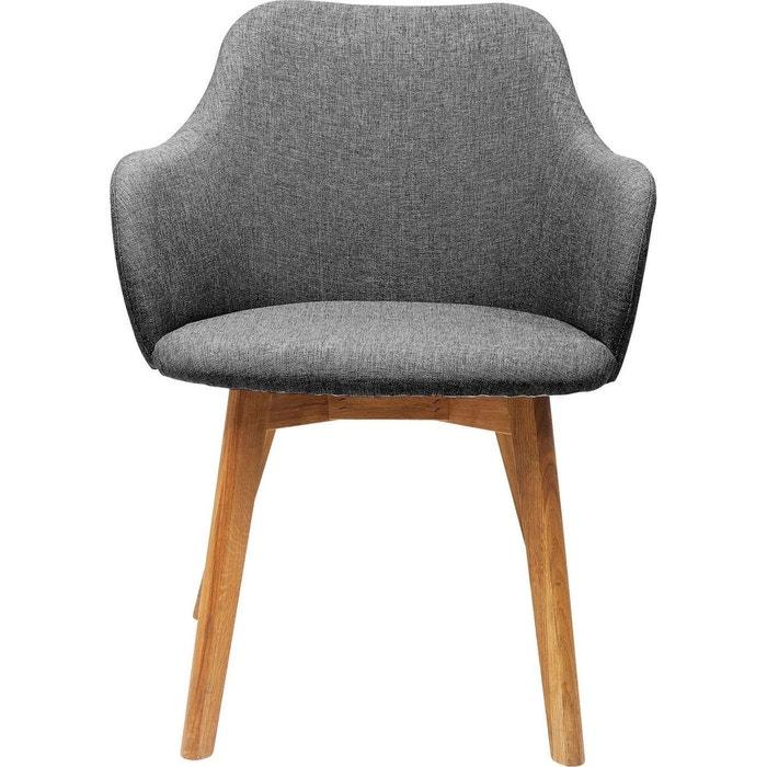 Chaise avec accoudoirs Lady grise