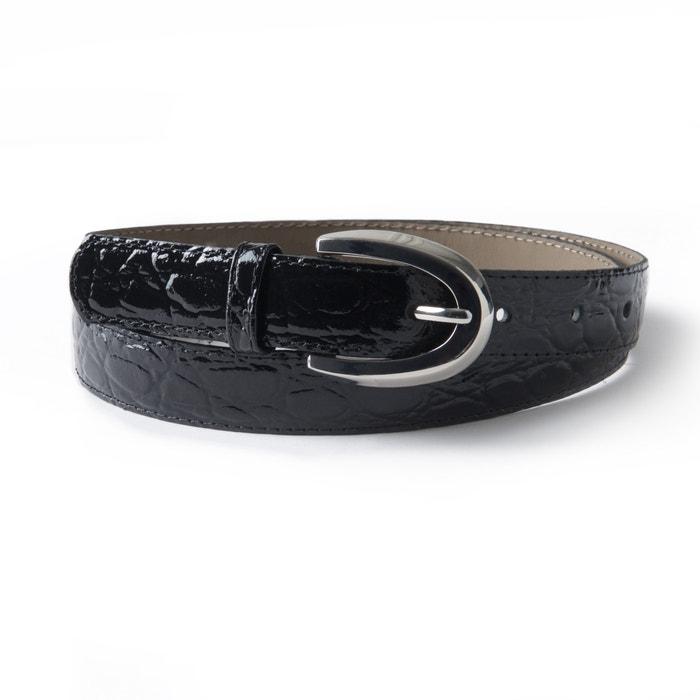 Crocodile Print Leather Belt  La Redoute Collections image 0