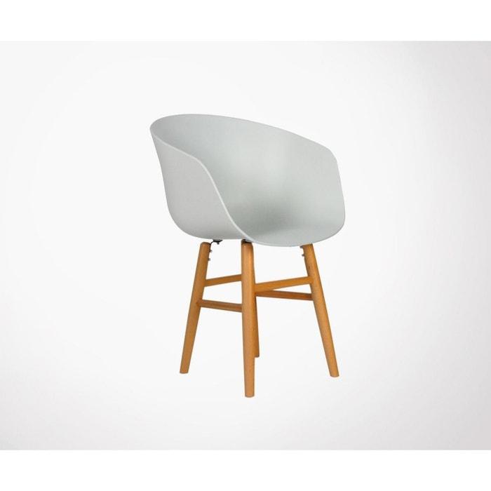 Fauteuil Design Pied Bois Clint
