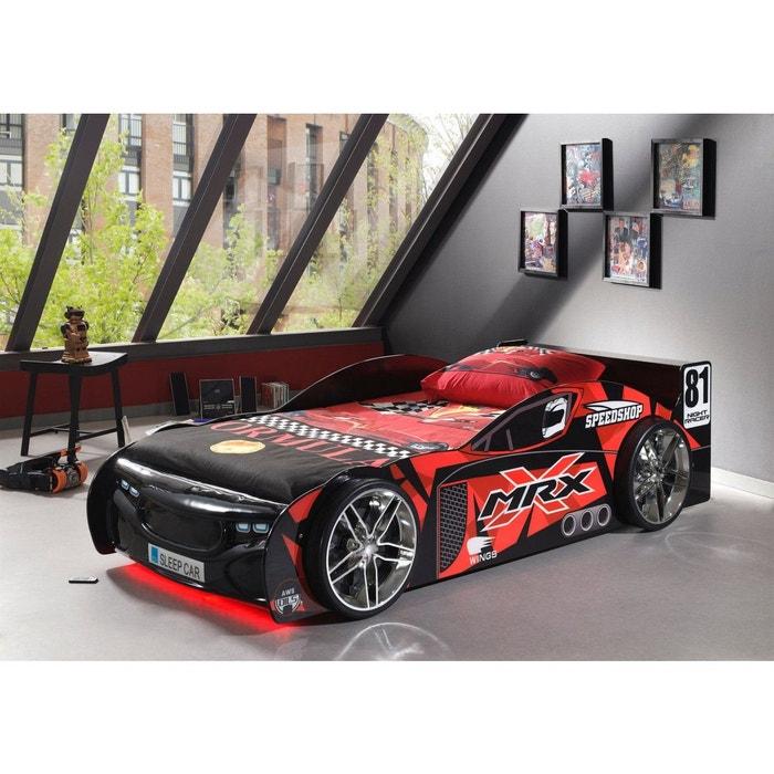 Lit enfant voiture de course noir et rouge rouge terre de nuit la redoute - Lit enfant voiture de course ...