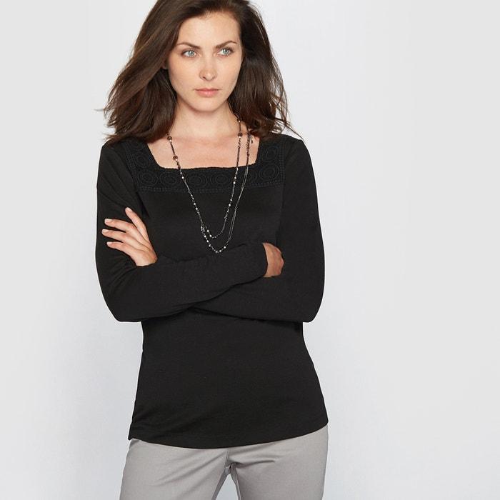 Image T-shirt encolure carrée ANNE WEYBURN