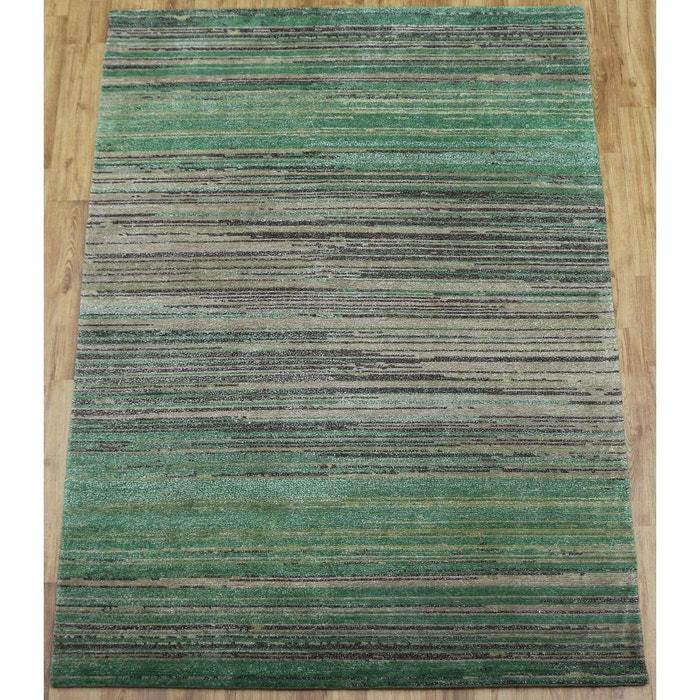 Tapis salon basti nature org nepal laine tapis chambre vert theko la r - Tapis laine la redoute ...