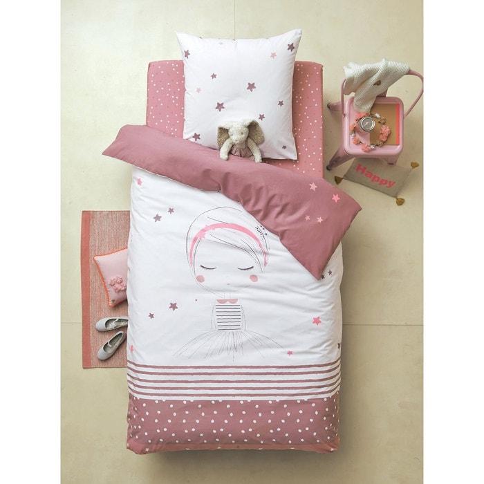 parure r versible housse de couette taie d 39 oreiller enfant petite r veuse violet clair imprim. Black Bedroom Furniture Sets. Home Design Ideas