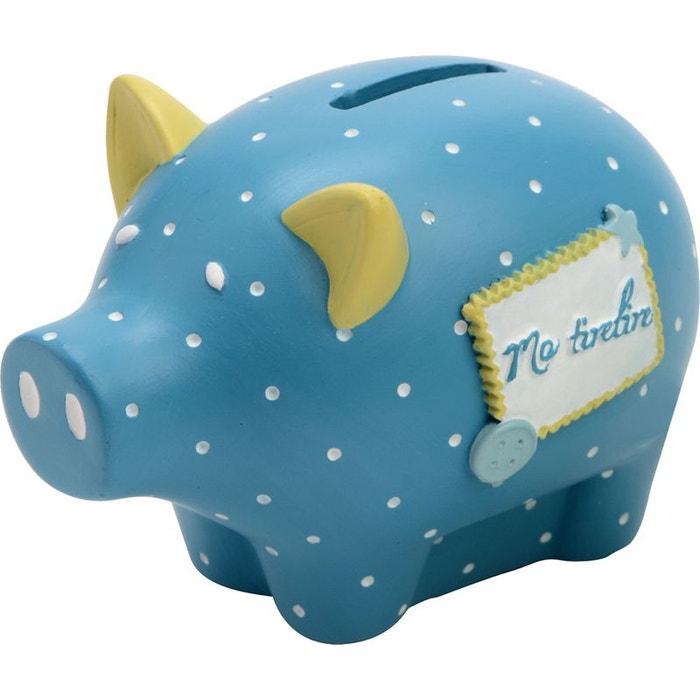 tirelire cochon th o bleu amadeus les petits la redoute. Black Bedroom Furniture Sets. Home Design Ideas