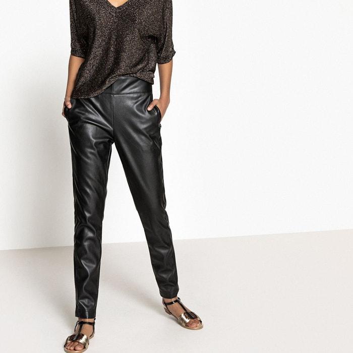 Pantalon slim simili noir La Redoute Collections  3917637165c