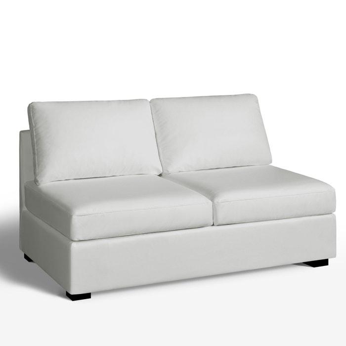 afbeelding 2-zit bank, omvormbaar, uitstekend comfort, leer, Robin La Redoute Interieurs