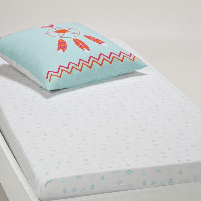 Drap housse inuit imprim en coton la redoute - La redoute linge de lit ...