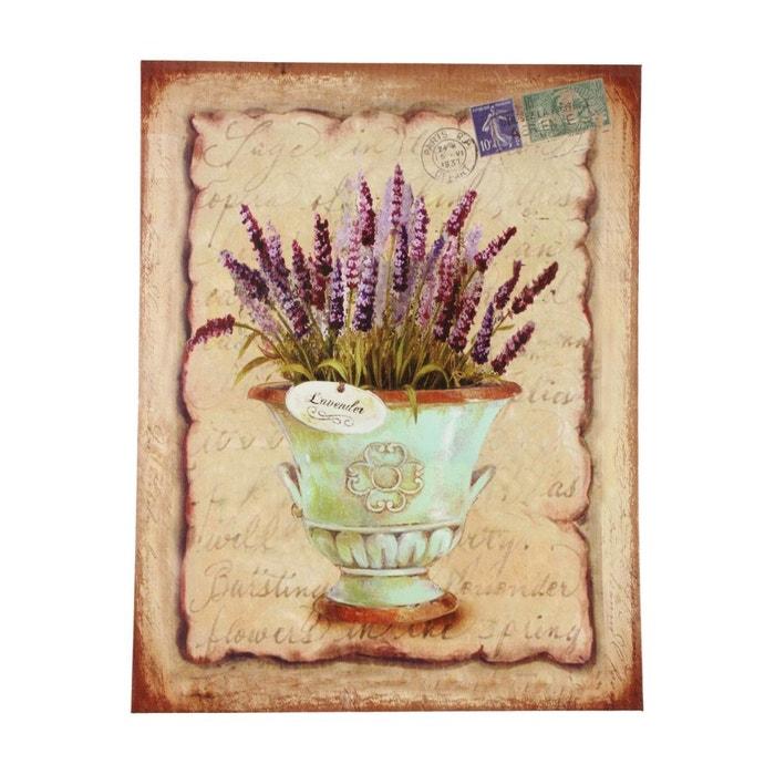 Tableau vertical lavande dans pot ceramique 35x45cm for Autrefois decoration
