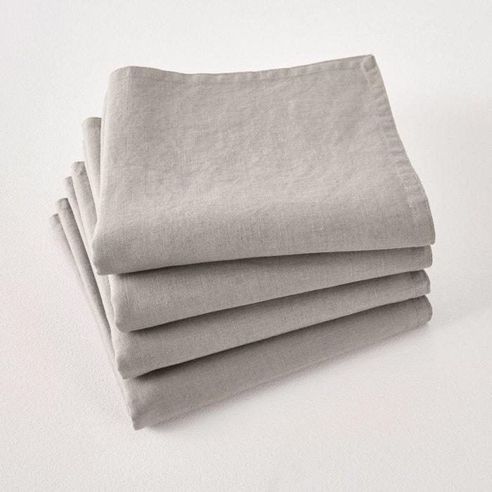 Serviettes de table lin lavé VICTORINE (lot de 4)  La Redoute Interieurs image 0