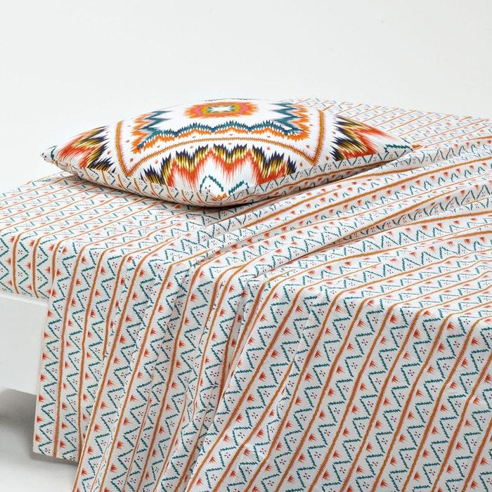 drap plat imprim eliota la redoute interieurs la redoute. Black Bedroom Furniture Sets. Home Design Ideas