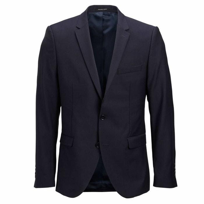Veste de costume cintrée 100% laine bleu marine Selected Homme  b457360a42e