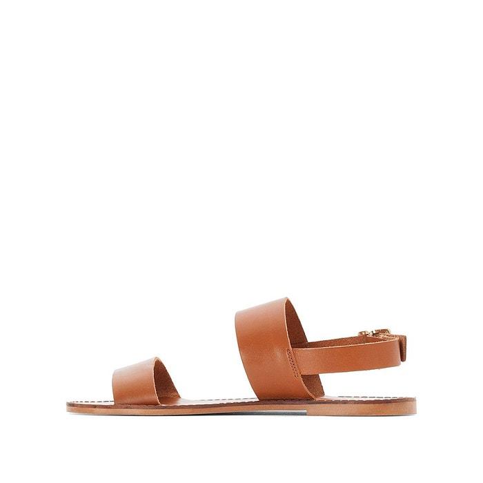 Sandales plates, cuir Jonak