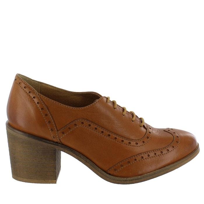 Chaussures richelieu à talons carrés caramel caramel Marta Jonsson recommander Parfait Jeu TTBMYPV5NM