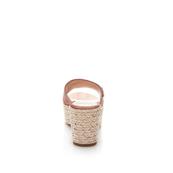 Mules lenore cuir lamé rose-or Guess