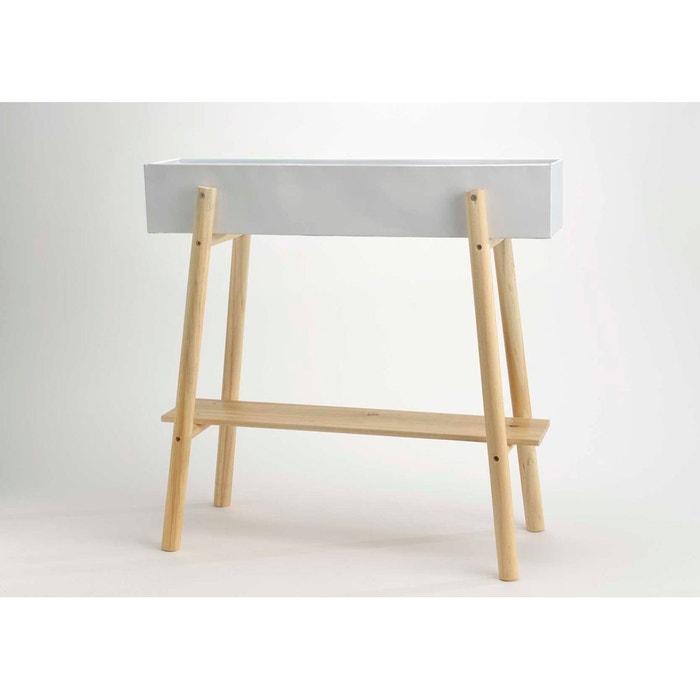 porte plante en bois et m tal naturel amadeus la redoute. Black Bedroom Furniture Sets. Home Design Ideas