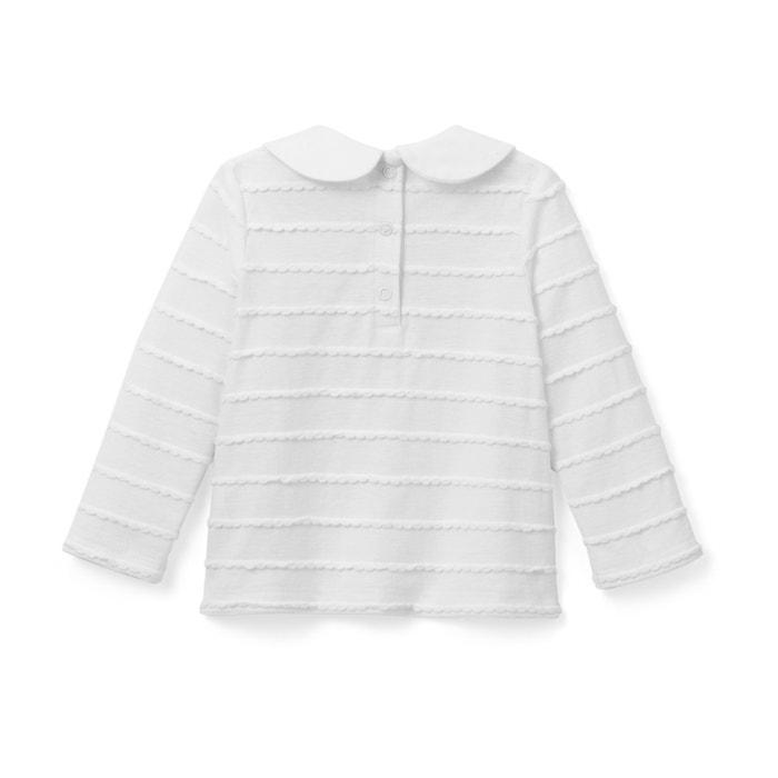 afbeelding T-shirt met claudinekraag en lange mouwen - Oeko Tex La Redoute Collections