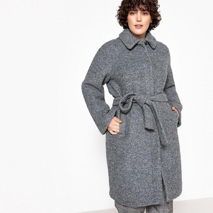 Manteau mi-long à ceinturer, laine mélangée  CASTALUNA image 0