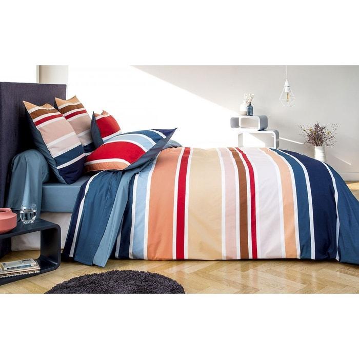 housse de couette stripes v000526 percale coton bleu celadon tradition des vosges la redoute. Black Bedroom Furniture Sets. Home Design Ideas