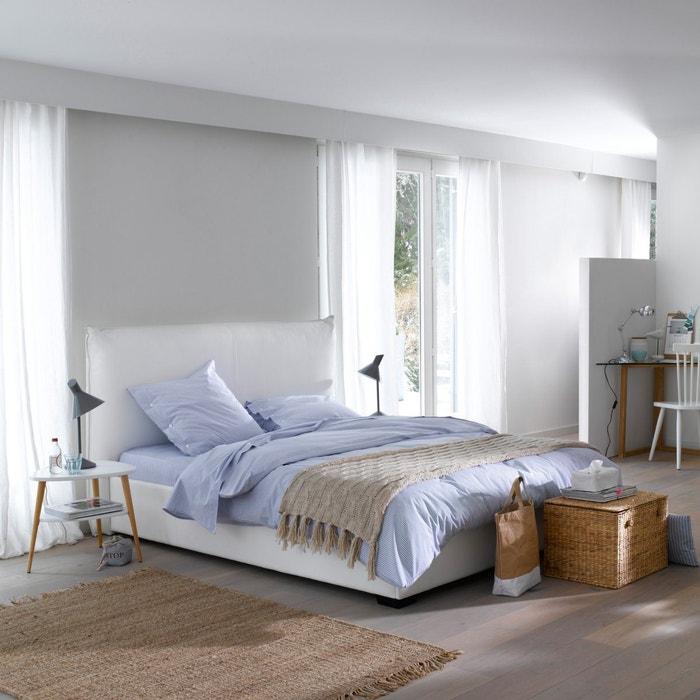 bett pancho inklusive lattenrost bettkasten und kopfteil dunkelgrau la redoute interieurs. Black Bedroom Furniture Sets. Home Design Ideas