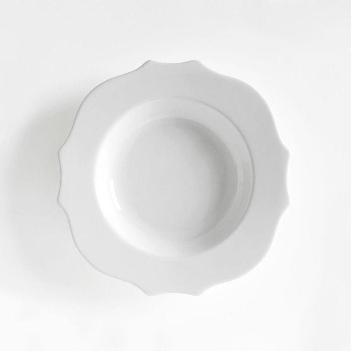 assiette creuse fa ence lot de 4 manoir blanc la redoute interieurs la redoute. Black Bedroom Furniture Sets. Home Design Ideas