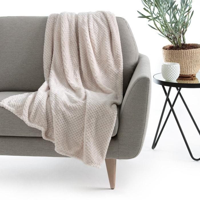 plaid con efecto gofrado puntos la redoute interieurs la redoute. Black Bedroom Furniture Sets. Home Design Ideas