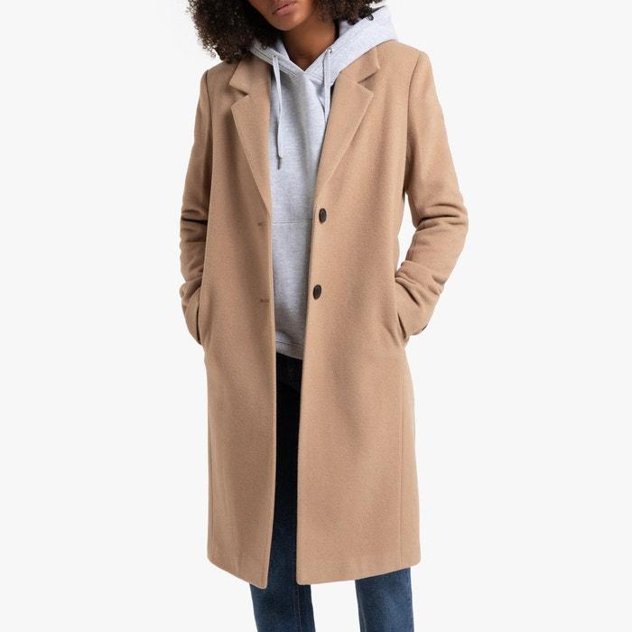 Long manteau drap de laine