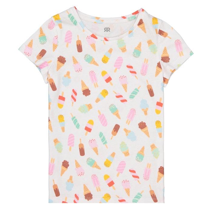 T-shirt maniche corte fantasia « gelato » 3 - 12 anni  La Redoute Collections image 0