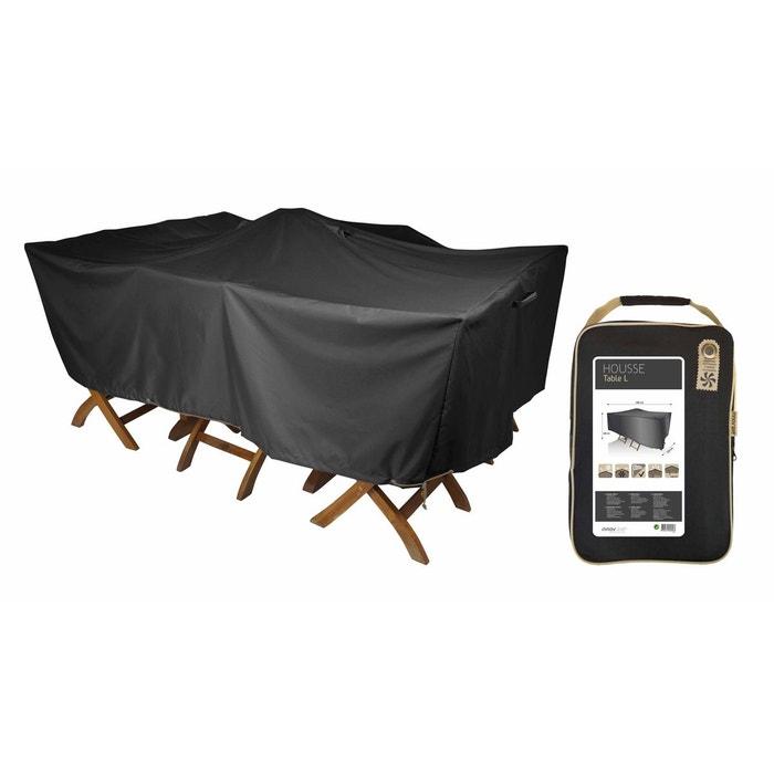 Housse de protection table de jardin 180 x 120 cm noir for Housse de coussin la redoute