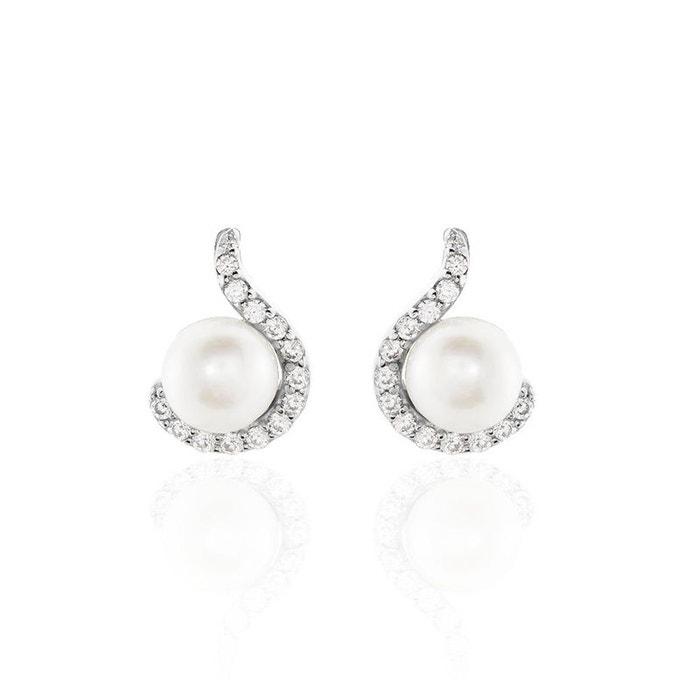 emballage élégant et robuste en présentant moins cher Boucles D'Oreilles Argent Perles De Culture