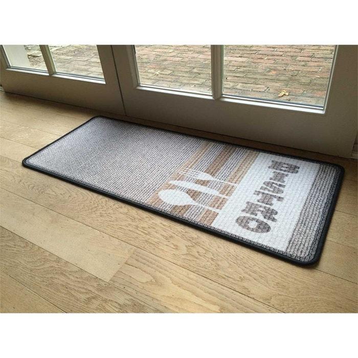 Amazing casame tapis de cuisine beige motif bistrot la for Tapis cuisine 120x50