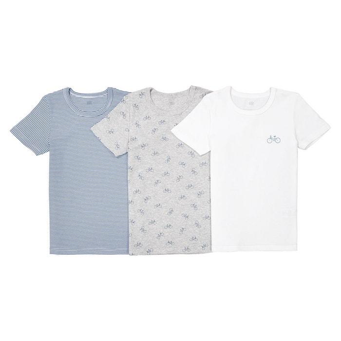 fa958bdddb817 Maillots de corps 2-12 ans (lot de 3) oeko tex blanc gris bleu La Redoute  Collections
