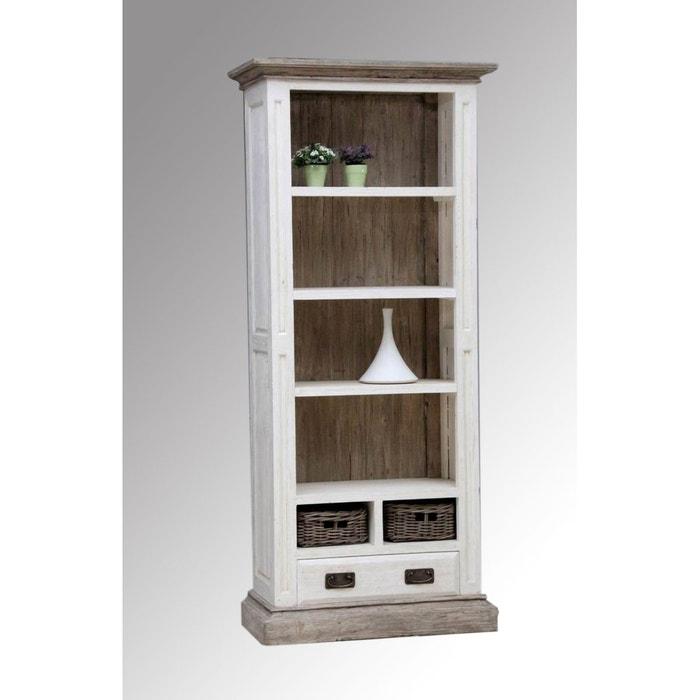 tag re colonne blanche acacia thani couleur unique kha. Black Bedroom Furniture Sets. Home Design Ideas