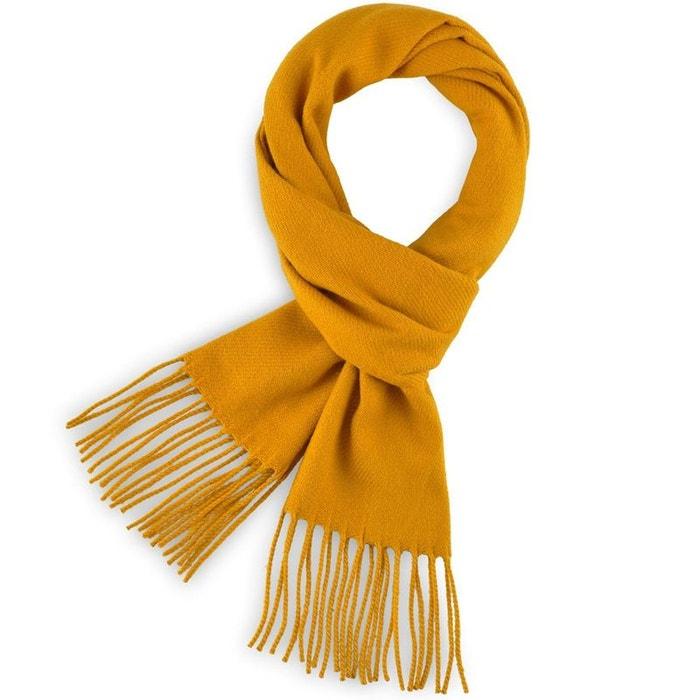 0820947eeffc Echarpe fely moutarde uni - fabriqué en france jaune Qualicoq