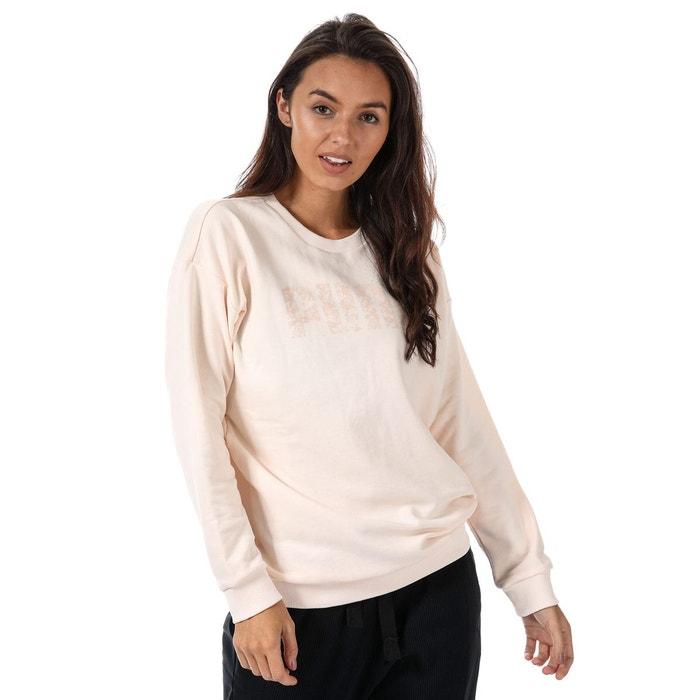 Crew Rose Sweatshirt Puma Redoute Crème La prY5dwq5