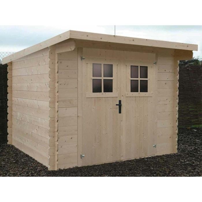 Abri jardin bois - 5.33 m² - 2.6 x 1.16 x 0.48 m - 28 mm. couleur ...